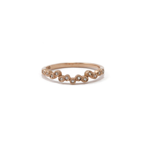 Rose Gold Scattered Diamond Ring