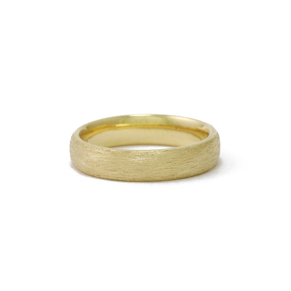 9ct Yellow Gold Textured men's ring