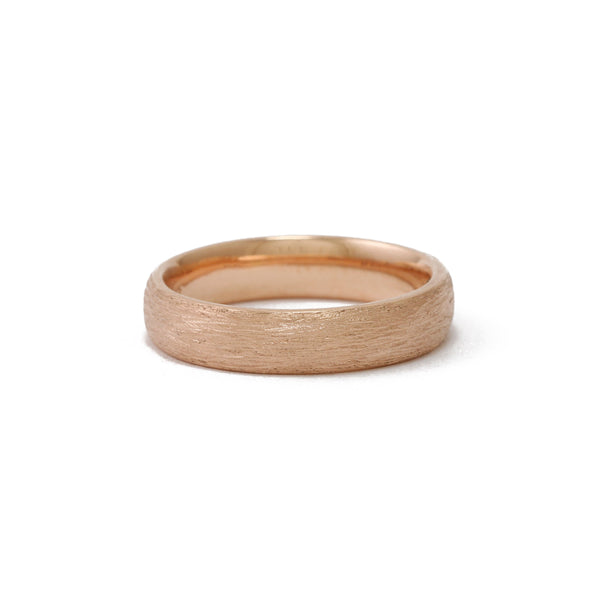 9ct Rose Gold Textured men's ring