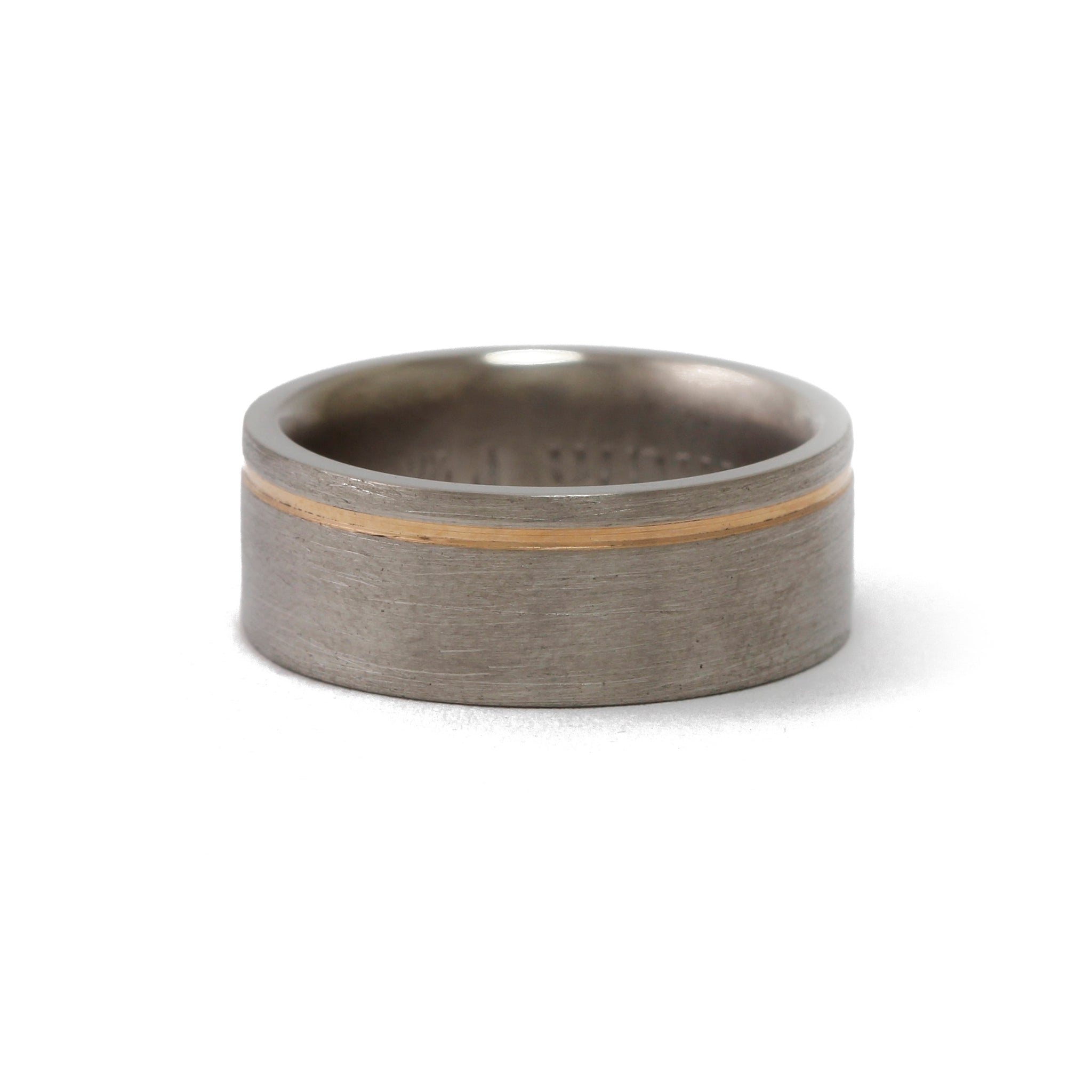 Titanium Rose Gold Ring