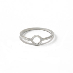 'Jardin' Silver Circle Ring