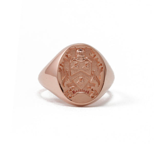 9ct Rose Gold Oval Legacy Signet Ring
