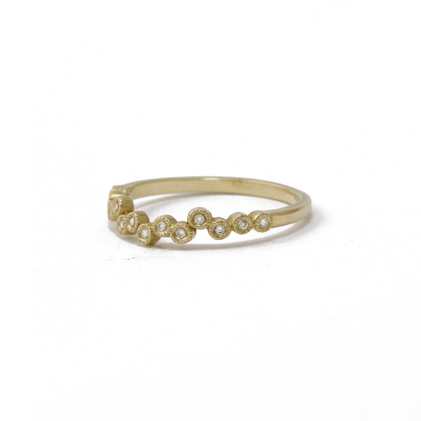 Yellow Gold Scattered Diamond Ring