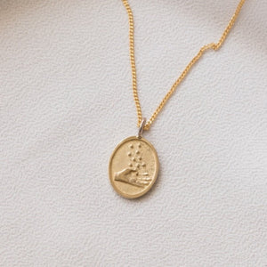 Fulfilled Promises Pendant in Brass