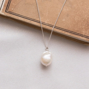 Small Pearl of a Great Price Pendant in Silver