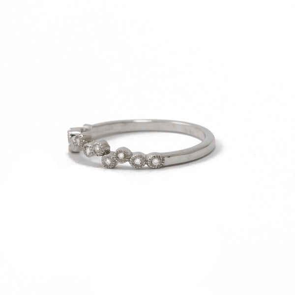 White Gold Scattered Diamond Ring