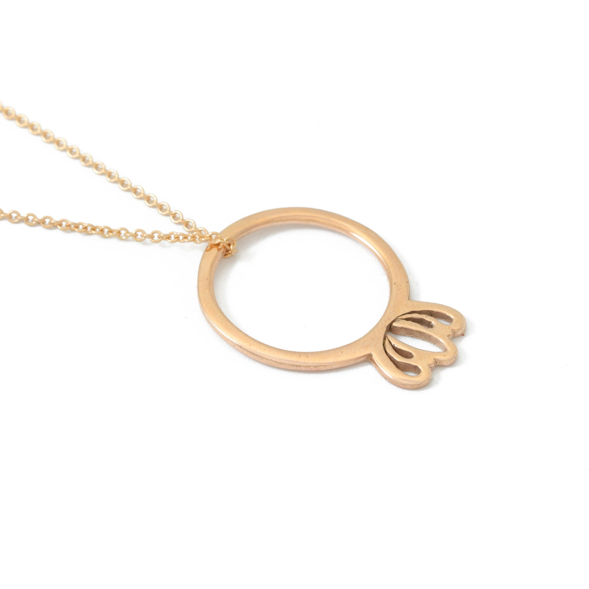 Rose Gold Protea Pendant
