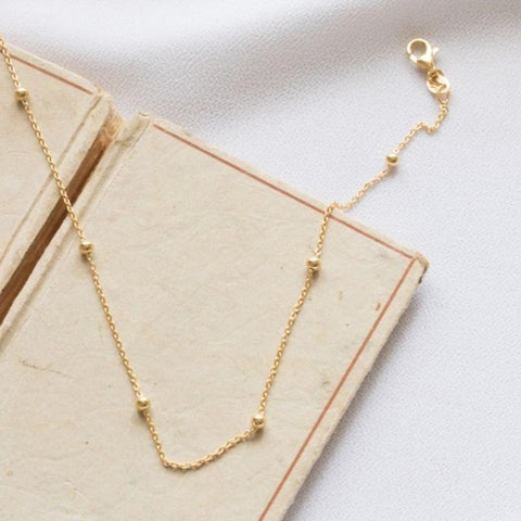 Rolo Oval Bead Chain in Gold