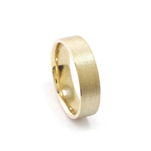 9ct Yellow Gold Flat Textured men's ring