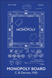 Monopoly Board Game Patent Print