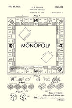 Monopoly Board Game Patent Print - 16X24 Inches / White / Art Poster