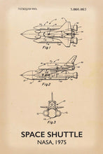 Space Shuttle Patent Print - 16X24 Inches / Titled Retro / Art Poster