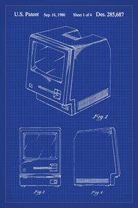 Apple Macintosh Patent Print - 16X24 Inches / Blueprint / Art Poster