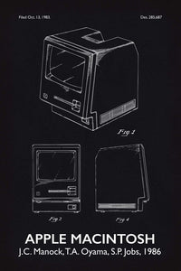 Apple Macintosh Patent Print - 16X24 Inches / Titled Blackboard / Art Poster