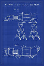 At-At Walker Star Wars Patent Art Print - 16X24 Inches / Blueprint / Poster