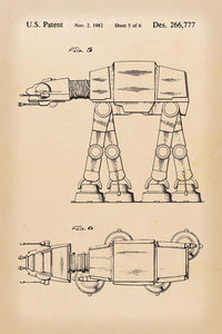 At-At Walker Star Wars Patent Art Print - 16X24 Inches / Retro / Poster