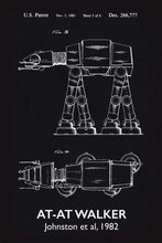 At-At Walker Star Wars Patent Art Print - 16X24 Inches / Titled Blackboard / Poster
