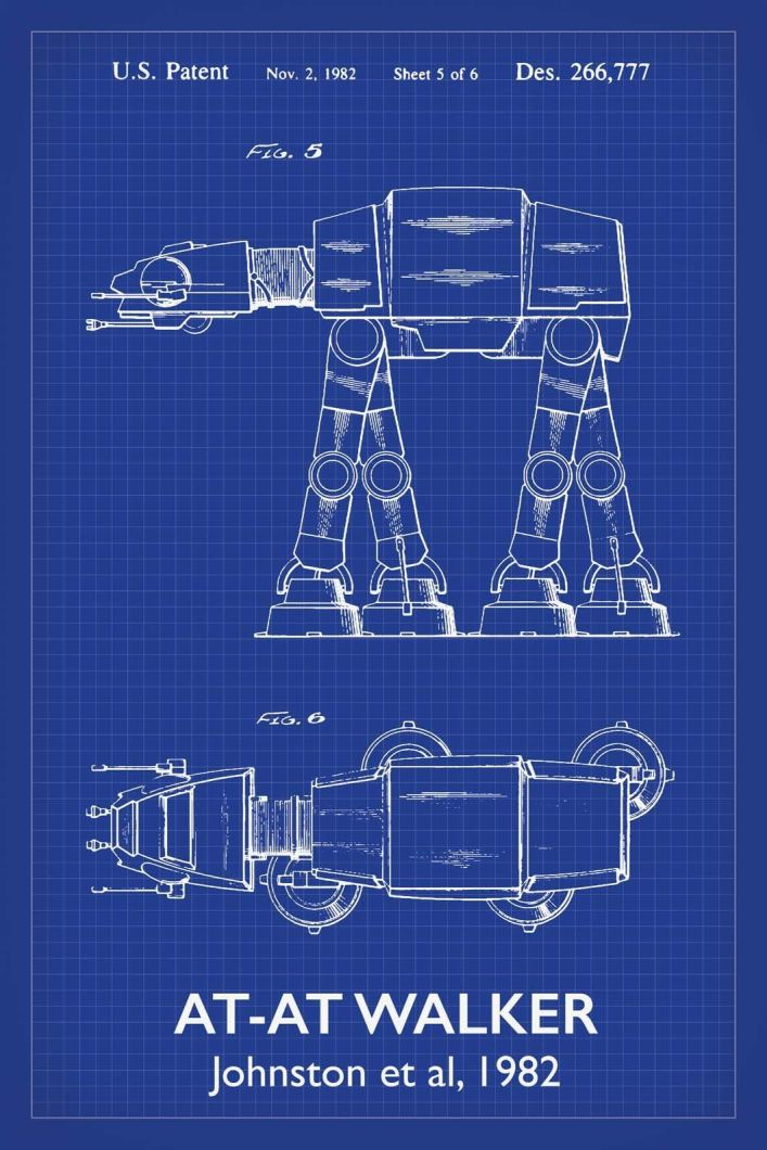 Bekend AT-AT Walker Star Wars Patent Art Print || by Alto Cole Blueprints @JY57