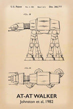 At-At Walker Star Wars Patent Art Print - 16X24 Inches / Titled Retro / Poster