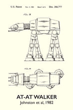 At-At Walker Star Wars Patent Art Print - 16X24 Inches / Titled White / Poster