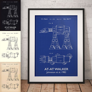 At-At Walker Star Wars Patent Art Print