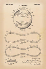 Baseball Patent Print - 16X24 Inches / Retro / Art Poster