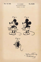 Disneys Mickey Mouse Patent Print - 16X24 Inches / Retro / Art Poster