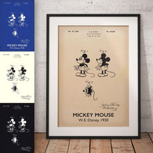 Disneys Mickey Mouse Patent Print
