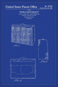 Fender Amp Patent Print - 16X24 Inches / Blueprint / Art Poster