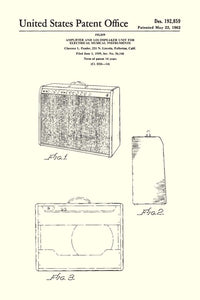 Fender Amp Patent Print - 16X24 Inches / White / Art Poster