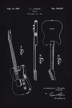 Fender Guitar Patent Print - 16X24 Inches / Blackboard / Art Poster