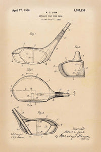 Golf Club Patent Print - 16X24 Inches / Retro / Art Poster