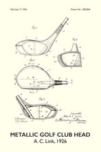 Golf Club Patent Print - 16X24 Inches / Titled White / Art Poster
