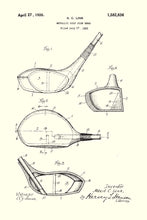 Golf Club Patent Print - 16X24 Inches / White / Art Poster