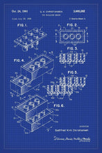 Lego Brick Patent Art Print - 16X24 Inches / Blueprint / Poster
