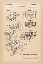 Lego Brick Patent Art Print - 16X24 Inches / Retro / Poster
