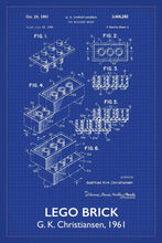 Lego Brick Patent Art Print - 16X24 Inches / Titled Blueprint / Poster