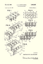 Lego Brick Patent Art Print - 16X24 Inches / White / Poster
