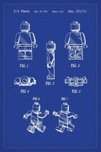 Lego Man Patent Art Print - 16X24 Inches / Blueprint / Poster