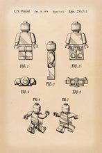 Lego Man Patent Art Print - 16X24 Inches / Retro / Poster