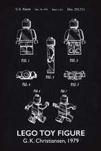 Lego Man Patent Art Print - 16X24 Inches / Titled Blackboard / Poster