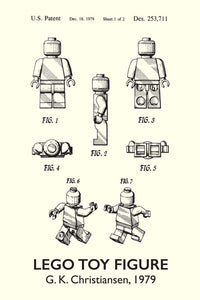 Lego Man Patent Art Print - 16X24 Inches / Titled White / Poster