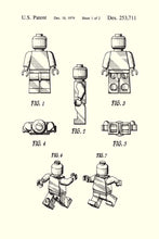 Lego Man Patent Art Print - 16X24 Inches / White / Poster