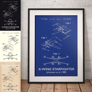 X-Wing Star Wars Patent Art Print