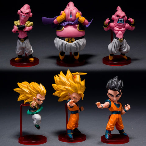 3 Buus & 3 Saiyans (6 Piece Collection)