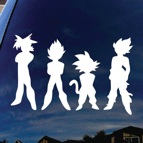 HD Vinyl Saiyans Car Stickers!