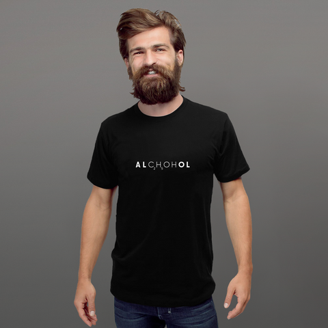Alcohol - MINIMALS Collection, Short-Sleeve Unisex T-Shirt