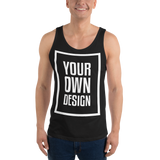 Your Own Design - Unisex  Tank Top - Black, White