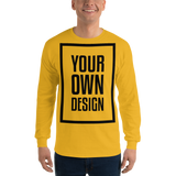 Your Own Design - Long Sleeve T-Shirt - Black, White, Color Variants