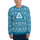 Impossible Triangles BL Unisex Sweatshirt - LESS is MORE Collection